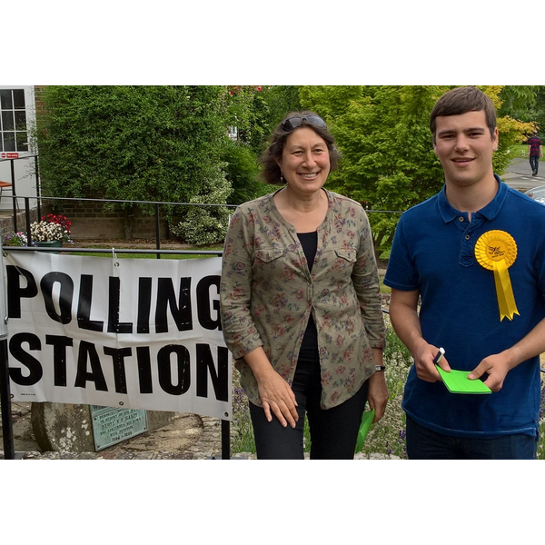 Tristan at the Polling Station