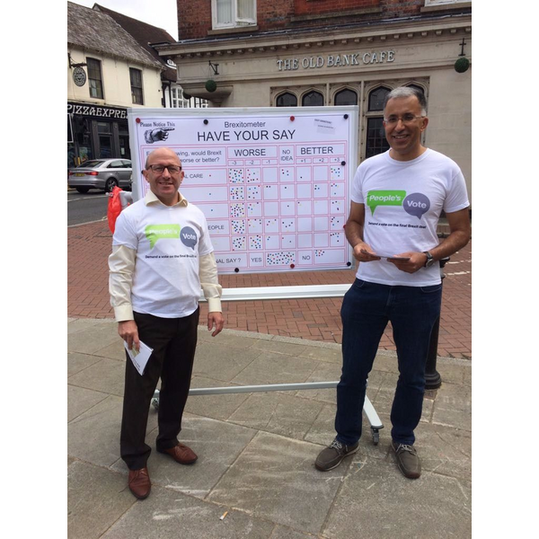 People's Vote Action Day in East Grinstead
