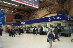 Ticket Office at London Victoria Train Station