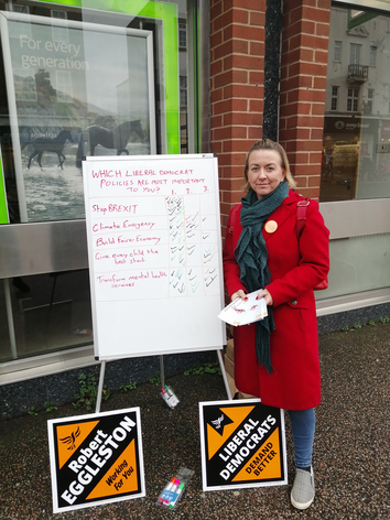 Samantha Payne helping out on Hayward Heath action day