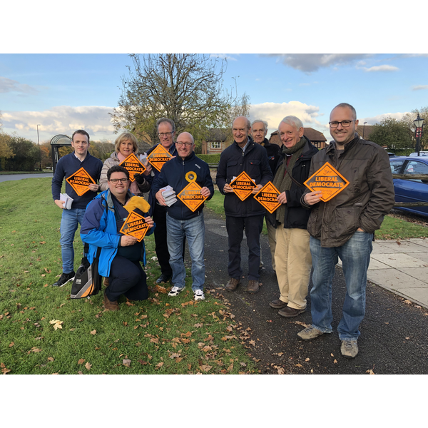 Burgess Hill Lib Dems Out Campaigning